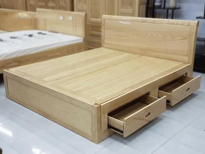 Giường gỗ sồi nga dạt phản