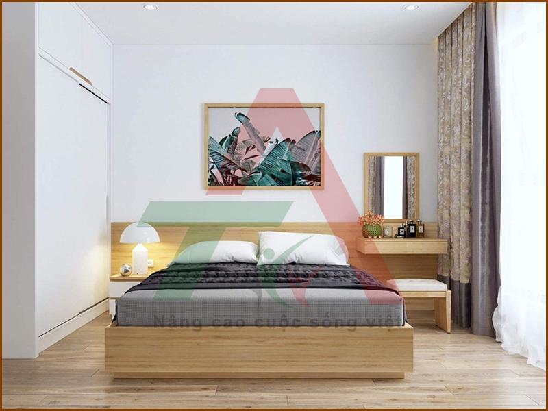 Giường ngủ MDF phủ melamine đẹp