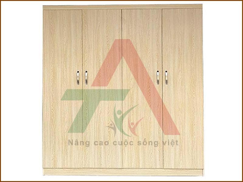 Tủ quần áo gỗ MDF 4 cánh 2mx1m6