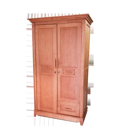 Tủ áo gỗ sồi Nga màu cánh gián