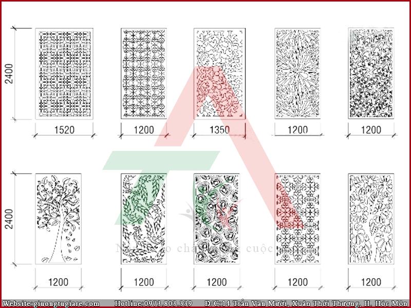 Thiết kế bản vẽ vách ngăn CNC