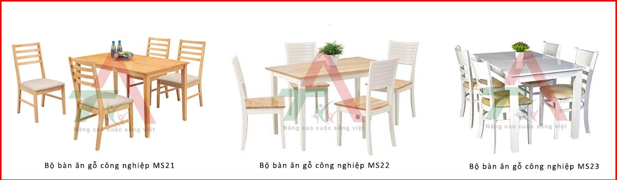bộ bàn ăn gỗ công nghiệp